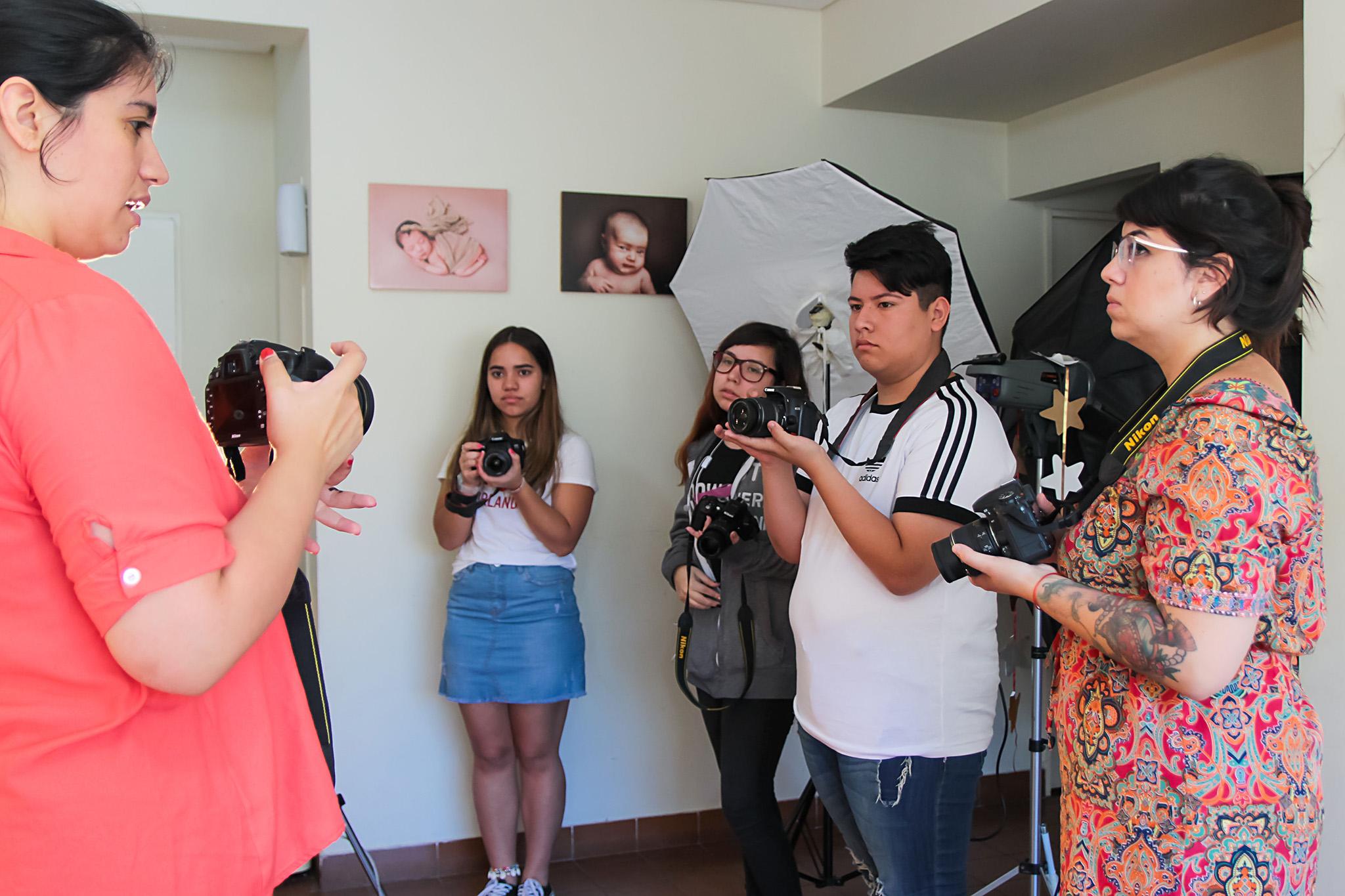 alumnos de fotografia