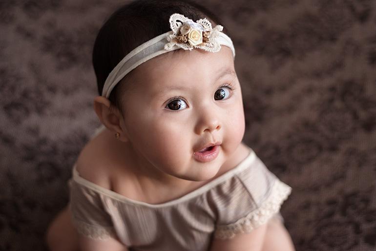 foto de beba de 8 meses
