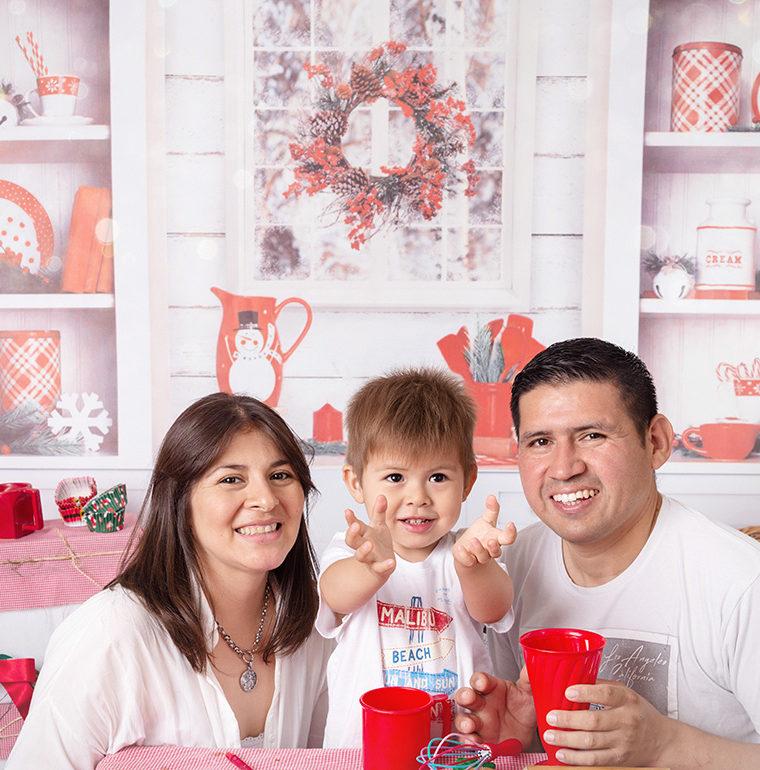 Sesiones de navidad para Ambar, Isa y Fausto